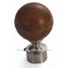 M04 25mm decorative wood finials with iron bases